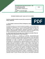 ATIVIDADE AVALIATIVA EMPREENDEDORISMO II - MIRIAN ALVES