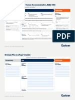Strategic Plan on a Page Template Hr 2020
