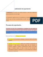 PROCEDIMIENTO DE EXPORTACION Y IMPORTACION  EXPOSION