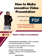 How To Make Innovative Presentation Video_DR DAYANA MPPU1003.pdf