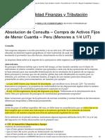 Absolucion de Consulta – Compra de Activos Fijos de Menor Cuantia – Peru (Menores a 1_4 UIT) – Blog de Contabilidad Finanzas y Tributación