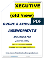 CS EXE GST AMENDMDNTS FOR JUNE 20 EXAM ( old and new)