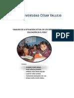 DERECHO A LA EDUCACION EN EL PERU