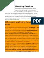 Bulk Whatsapp Service