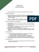 01 75 16 Startup Procedures