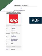 Le Parti social-démocrate d'Autriche