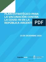 PLAN ESTRATÉGICO PARA LA VACUNACIÓN CONTRA LA COVID-19 EN LA REPÚBLICA ARGENTINA