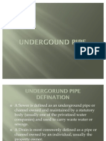 UNDERGOUND PIPE