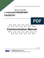 FA231 manual communication