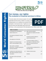 Our money our rights - The evolution of financial services in Africa