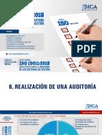 DIAPOSITIVAS 19011 2018 CAP 6 - REALIZACIÓN DE LA AUDITORÍA