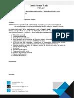Carta - Inversiones Ruiz CR