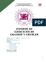 TRABAJO TEORÍA DE MÁQUINAS GRUBLER Y  GRASHOF