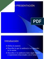 Hacer presentación