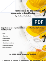 Legislação e Atribuição Profissional Engenharia
