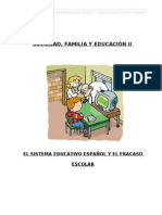 El sistema educativo español y el fracaso escolar