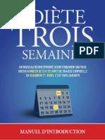 La Diète 3 Semaines PDF Gratuit