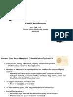 Scientific recordkeeping - NIH