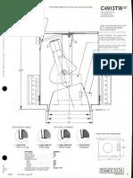 Omega Lighting C4913TW INC PAR-38 & R40 35-Deg. Adj. Downlight Spec Sheet 1-86