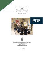 MPS Curriculum Audit
