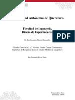Diseño Factorial a 2 y 3 Niveles, Diseño Central Compuesto y Superficie de Respuesta