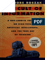 Theodore Roszak - The Cult of Information - Second Edition