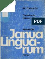 Waldemar Gutwinski - Cohesion in Literary Texts