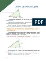9. RESOLUCIÓN DE TRIÁNGULOS