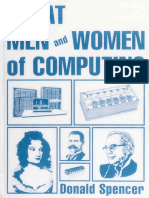 Donald Spencer - Great Men and Women of Computing