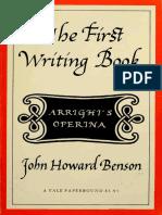 John Howard Benson - The First Writing Book