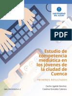 Estudio de competencia mediatica en los jovenes de la ciudad de Cuenca