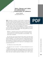 """""""The Kama Sutra, Romeo and Juliet, mathematics"""