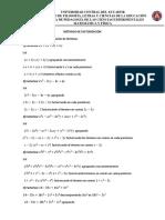 Metodos de Factorizacion