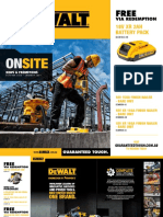 Dewalt Onsite Offers Oct 2020 - Jan 2021