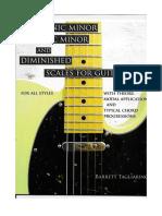 Barrett Tagliarino - Harmonic Minor, Melodic Minor and Diminished Scales for Guitar