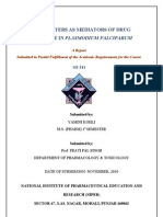 Transmitters as mediators of drug resistance in P.falciparum