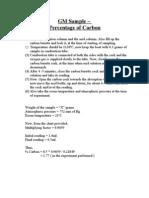 GM Sample - percentage of carbon