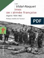 Les crimes de l'armee francaise - Vidal-Naquet,Pierre