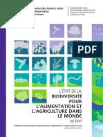 etat de la biodiversité dans le monde 2019