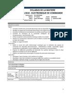 Elc610 Electronique de Commande 2020 2021 Validé