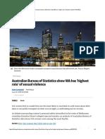 Australian Bureau of Statistics show WA...st rate' of sexual violence | PerthNow