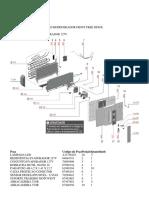 Electrolux DF80X Evaporador