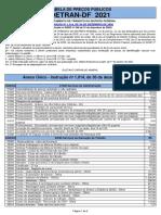 Tabela de Precos Detran DF 2021