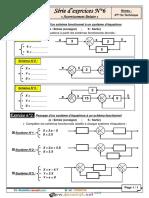 Série d'exercices N°6 - Génie électrique - Asservissement linéaire - Bac Technique (2015-2016) Mr Raouafi Abdallah