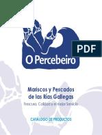 Catálogo de mariscos O Percebeiro