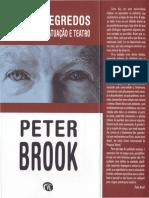 Peter Brook - Não Há Segredos, reflexões sobre atuação e teatro
