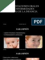 ENFERMEDADES  DE LA INFANCIA CON MANIFESTACIONES BUCALES (1)