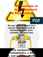 SAFETY PRECAUTIONS IN ELECTRONICS