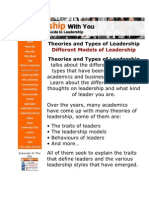 theories and types of leadership