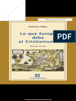 Lo que Europa debe al Cristianismo. Dalmacio Negro Pavón